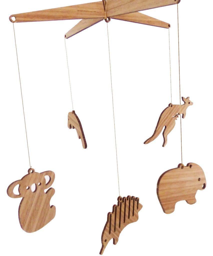6 Wooden Australian Animal Nursery Mobile Best For Environment
